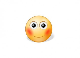 Make the Embarrassed Blushing Smiley Emoticon on Facebook
