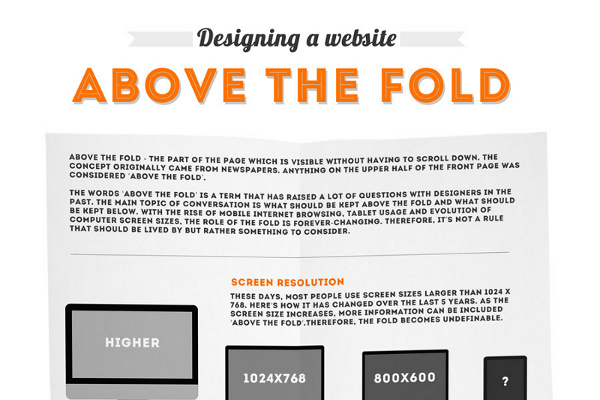 Above the Fold Website Design Dimensions and Tips