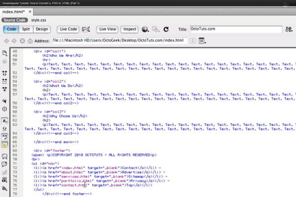How to Convert PSD to HTML Tutorial - BrandonGaille.com