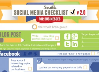 Social Media Checklist for Facebook, Twitter, LinkedIn and Pinterest