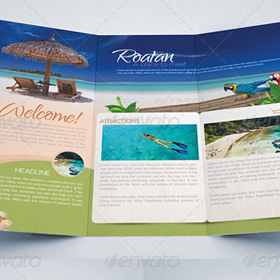 7 Great Travel Brochure Examples and Design Samples – Tri Fold Examples