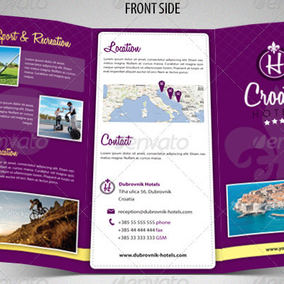 Tri Fold Hotel And Accomodation Brochure Example