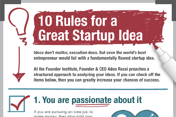 10 Rules for Good Entrepreneurial Ideas and Web Startup Ideas