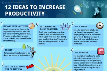 12 Great Tips to Increase Productivity at Work