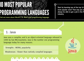 List of the Top 10 Most Popular Programming Languages