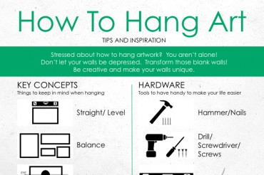 How to Perfectly Hang Canvas Art on Walls