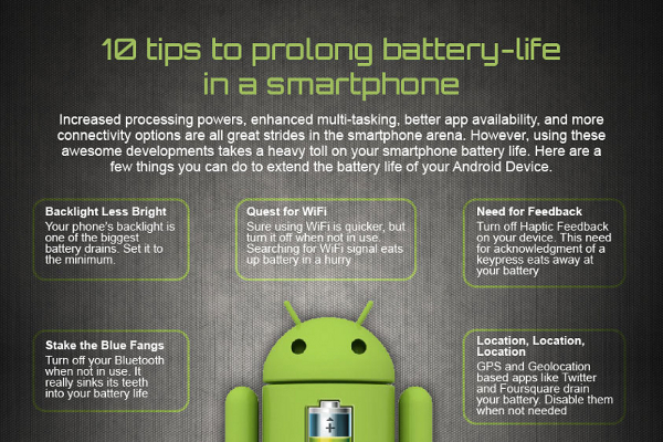 10 Ways to Extend Cell Phone Battery Life