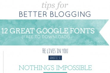 12 Best Google Fonts for a WordPress Blog