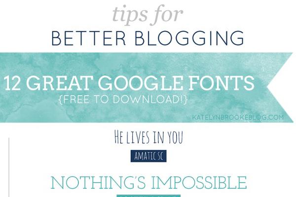 12 Best Google Fonts for a Wordpress Blog