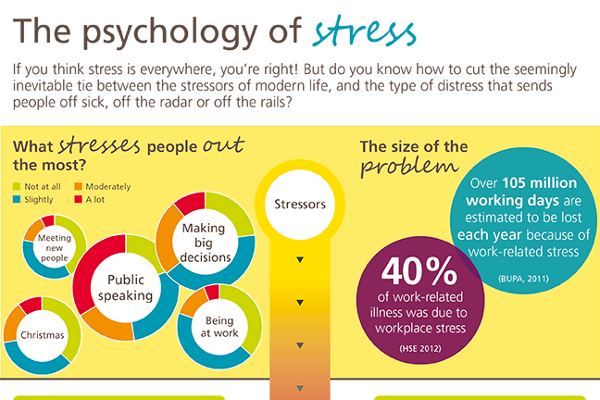 What percentage of students get stress from homework