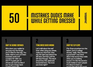 50 Fashion Faux Pas that Men Make When Getting Dressed