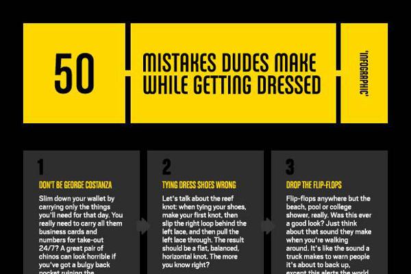 50 Fashion Faux Pas that Men Make When Getting Dressed