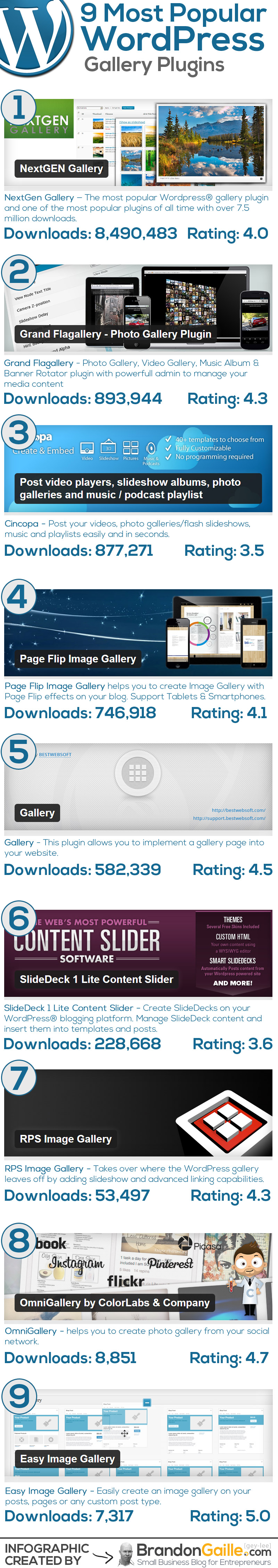 Best Wordpress Photo Gallery Plugins Infographic 9 Best Wordpress Photo Gallery Plugins
