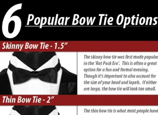The 6 Different Types of Bow Ties