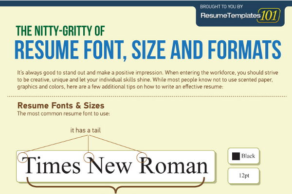 best fonts and proper font size for resumes brandongaillecom - Resume Fonts
