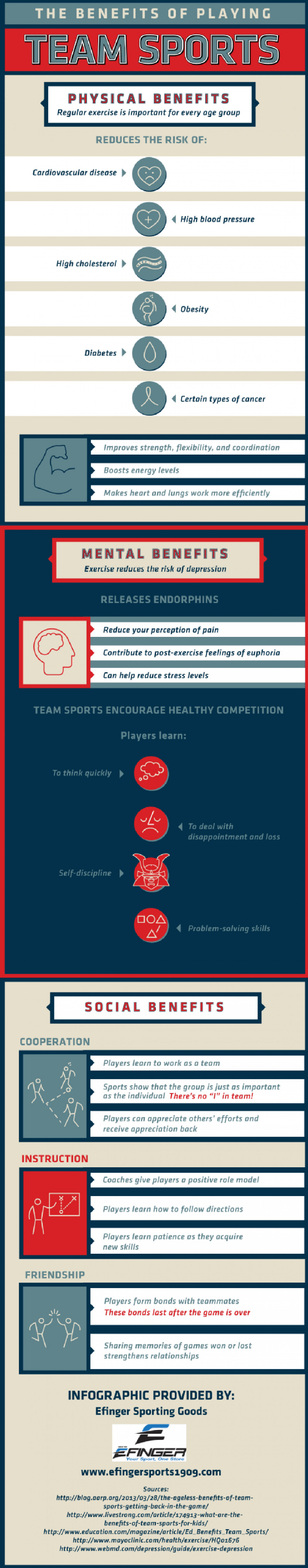 Health Benefits of Team Sports