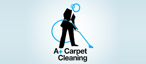 A+ Carpet Cleaning Company Logo