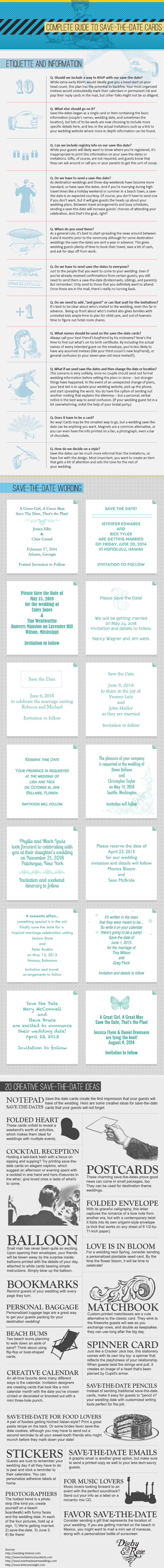 15 Destination Wedding Save the Date Wording Examples ...