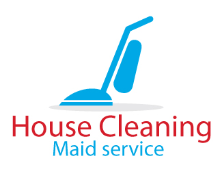 House Cleaning Maid Service Company Logo