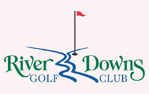 River Downs Golf Course Logo 29 Famous Golf Course Logos