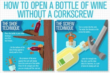 4 Ways to Open a Wine Bottle Without a Corkscrew