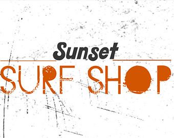 Sunset Surf Shop Company Logo