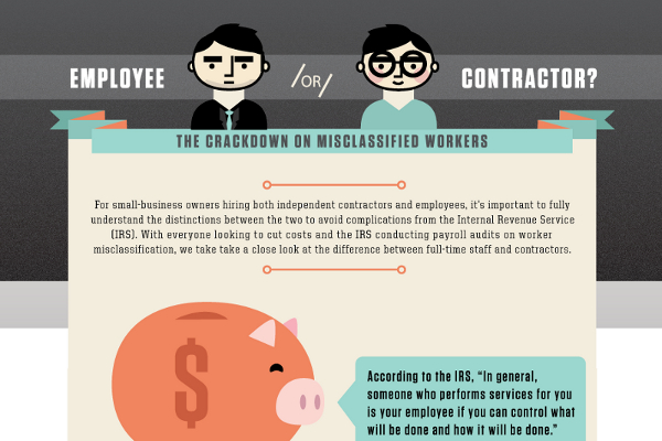 differences employee independent contractor