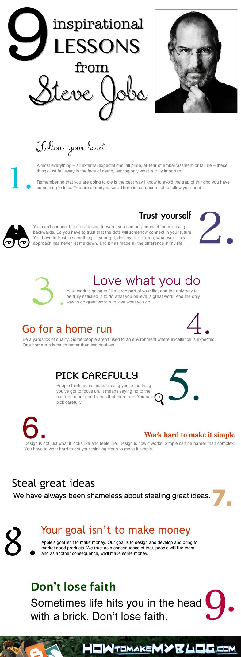 Lessons from Steve Jobs