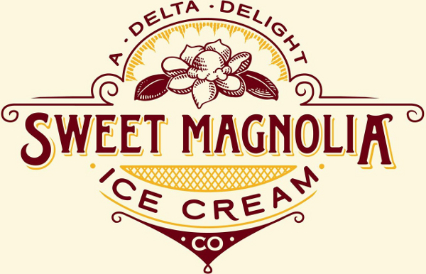 Sweet Magnolia Ice Cream Company Logo