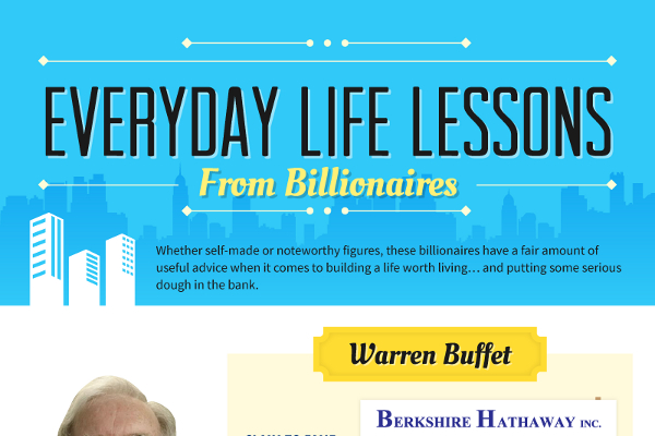 8 Life Lessons from Billionaires