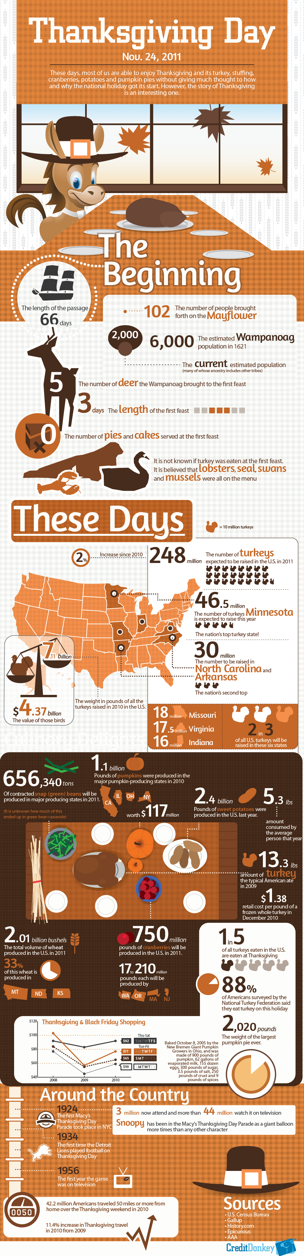 Facts About Thanksgiving You Did Not Know