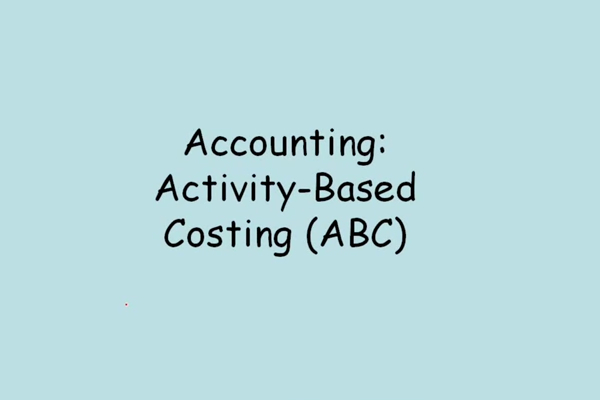 Activity Based Costing Examples