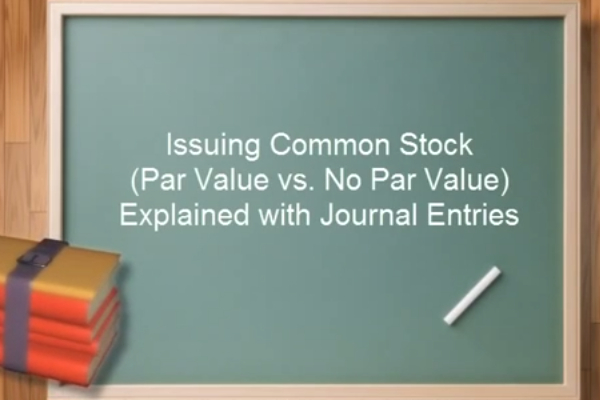 Common Stock Journal Entry Examples