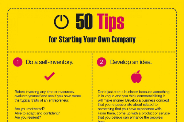 50 Things to Do When Starting a Business