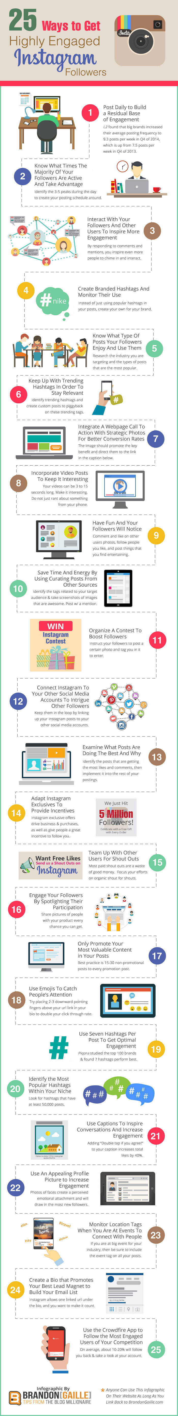 Infographic: 25 Ways To Get Highly Engaged Instagram Followers