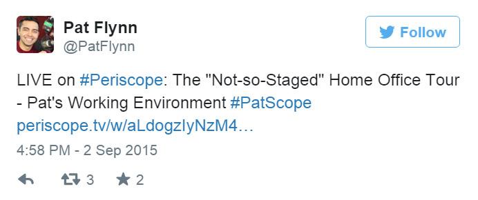 Periscope Tweet Promotion Example