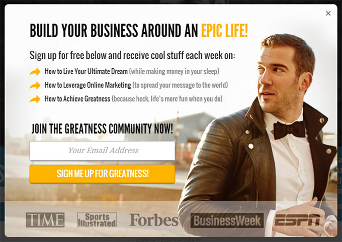 lewis-howes-popup-email-opt-in-example