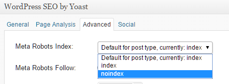 No-Index-SEO-Yoast