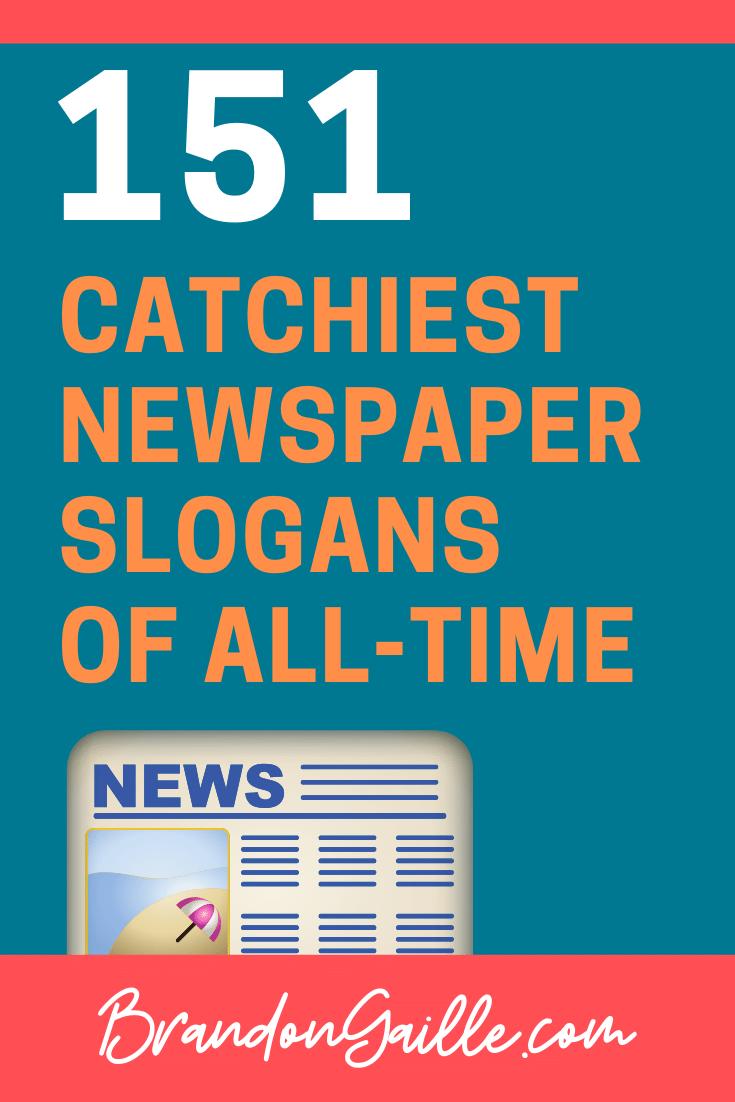 Newspaper Slogans