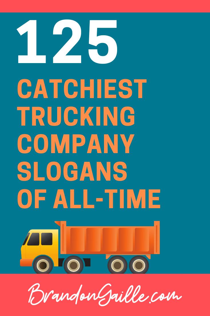 Trucking Company Slogans