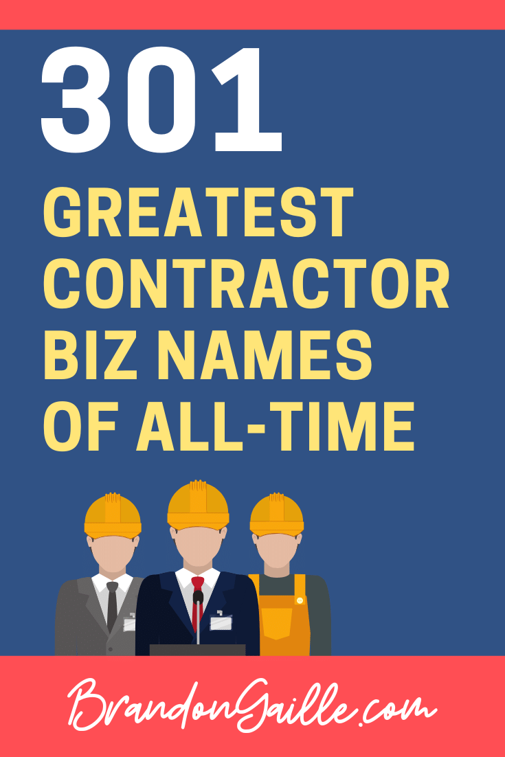 Contractor Company Names