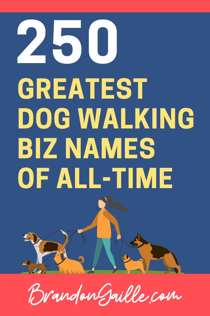 Dog Walking Business Names