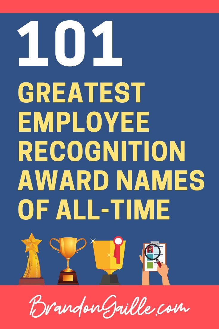 Employee Recognition Award Names