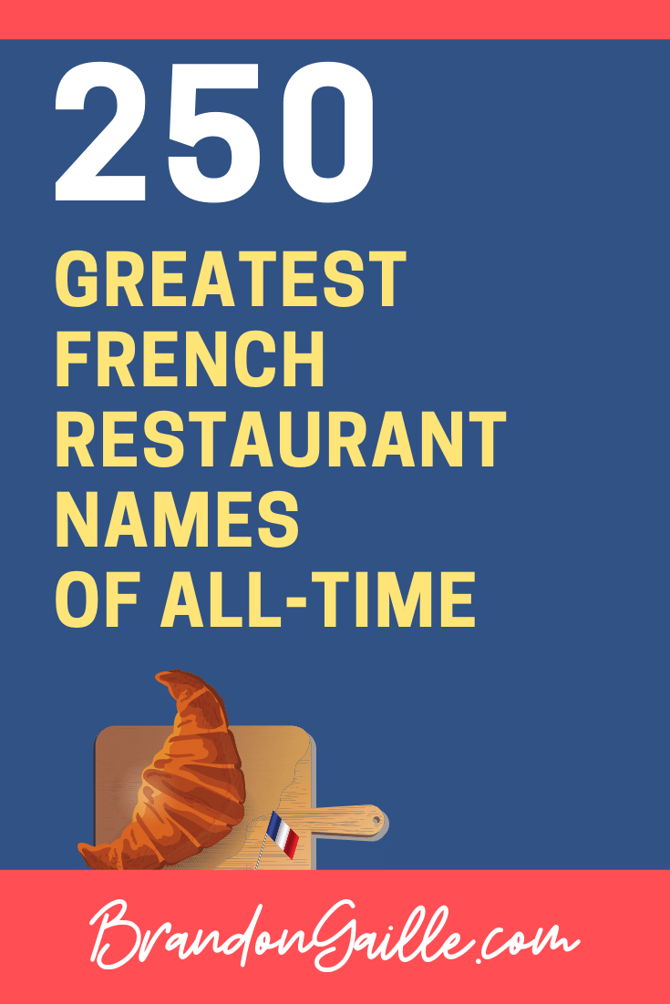 French Restaurant Names