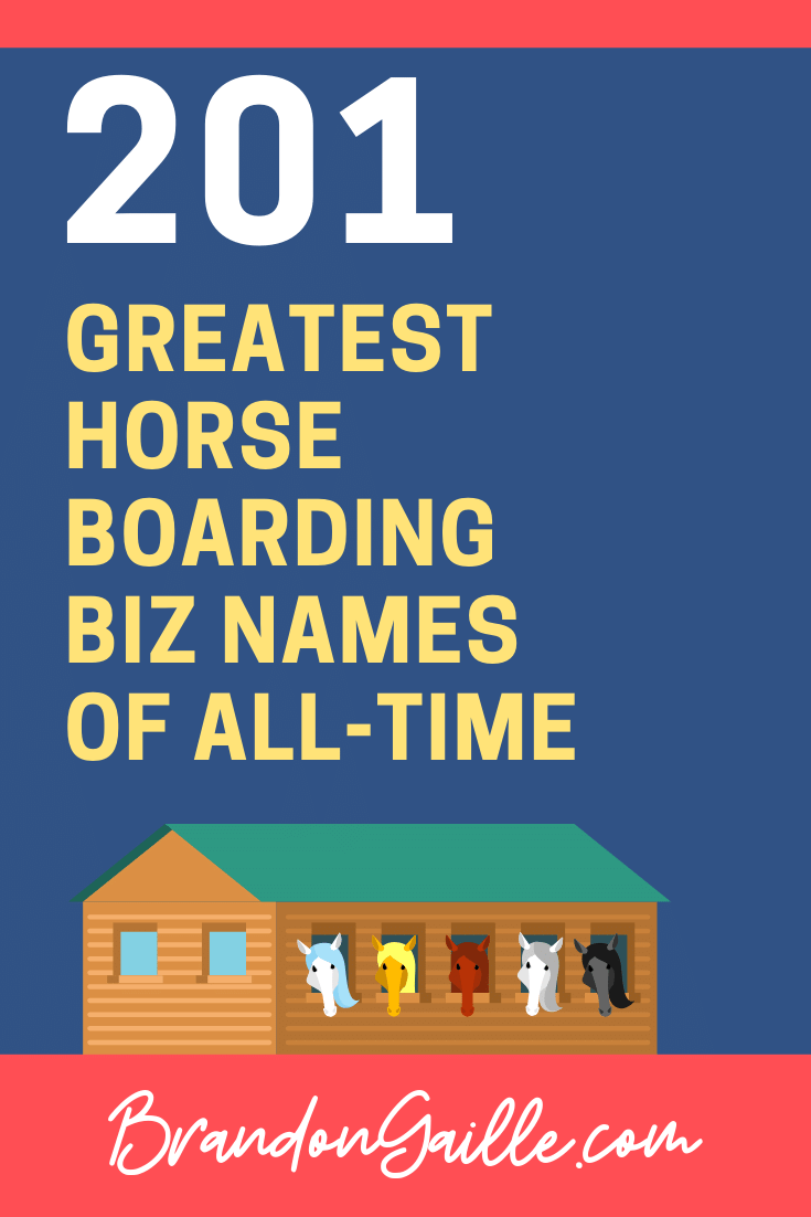 Horse Boarding Business Names