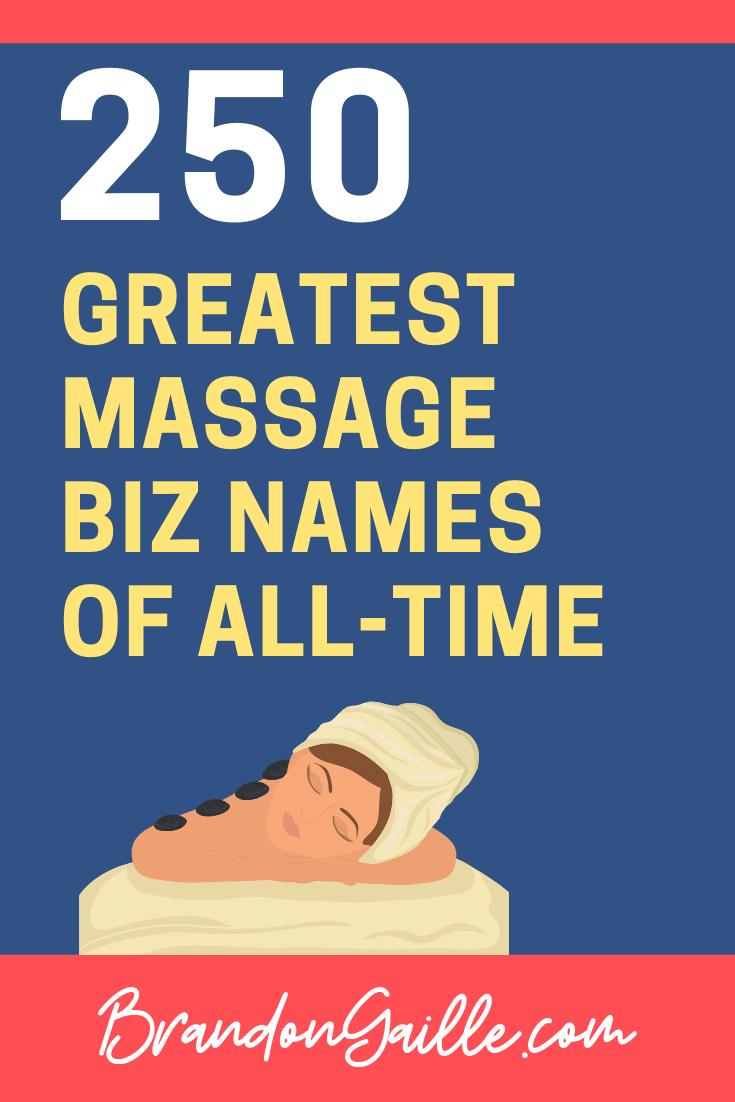 Massage Company Names