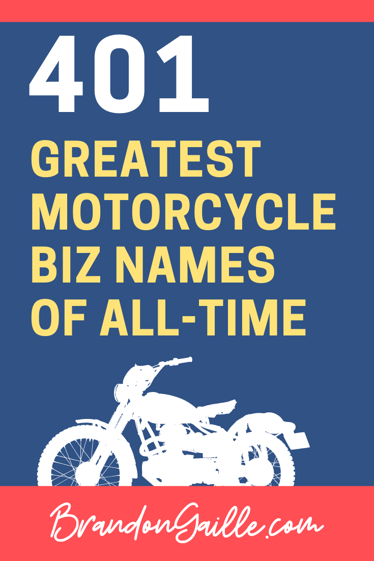 Motorcycle Business Names