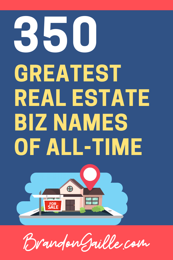 Real Estate Company Names