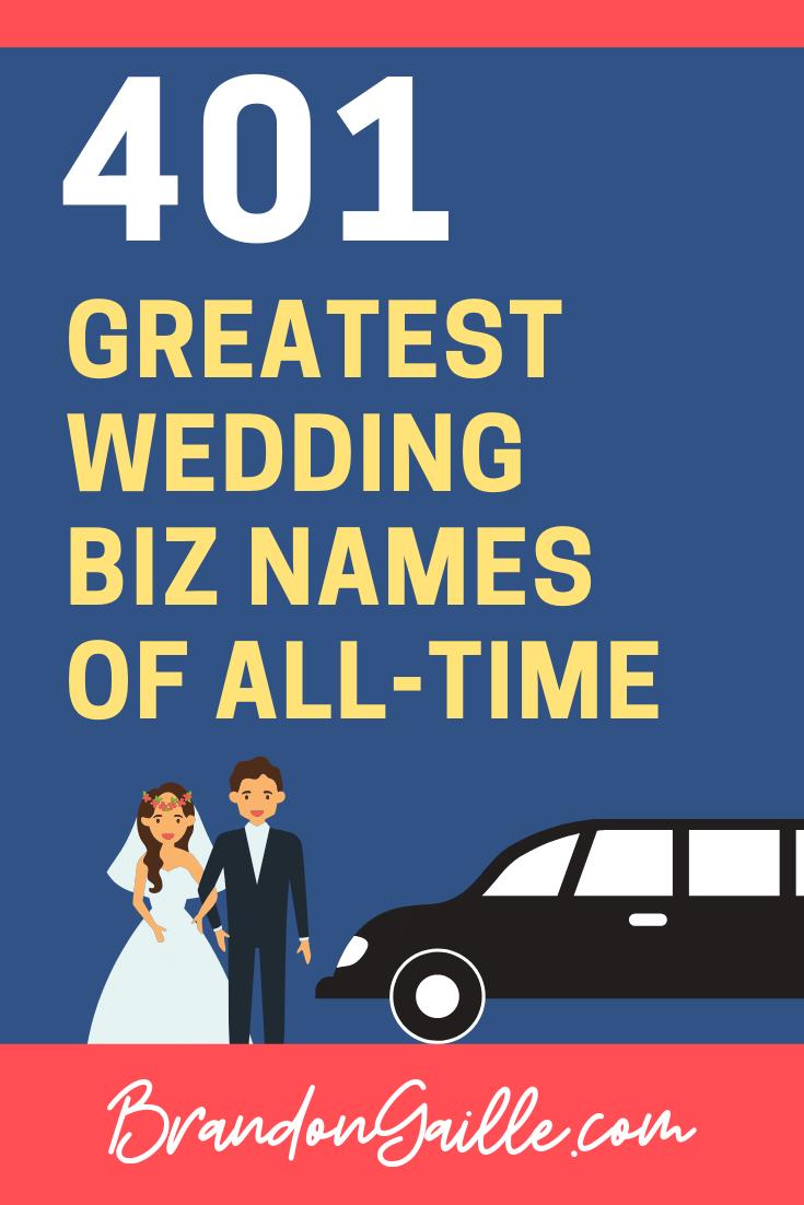 Wedding Company Names