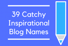 39 Catchy Inspirational Blog Names